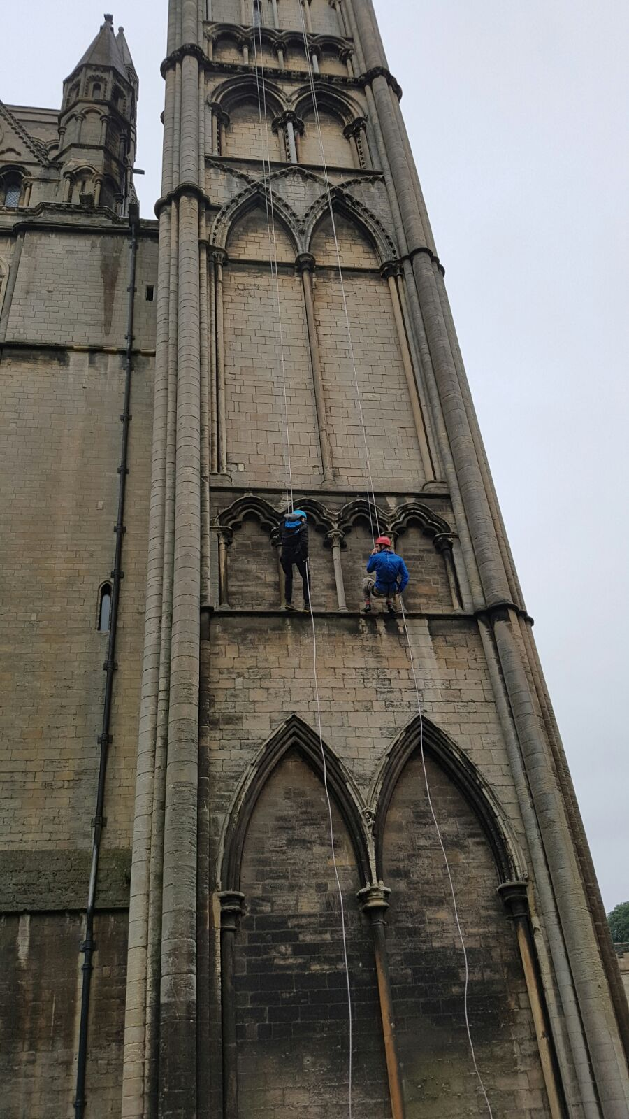 Cathedral abseil for its 900th birthday!
